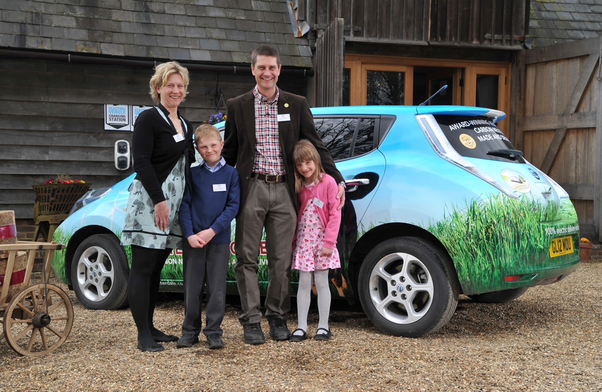 Family with the leaf vehicle