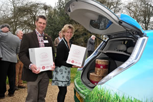 Robin and Carla Betts loading the cheeses for the first carbon neutral delivery into Lodnon