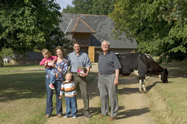 The Betts family outside the Cheese Barn